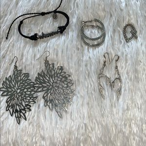 Jewelry - Silver Costume Jewelry Lot